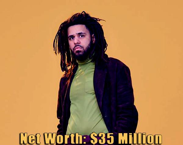 Image of American rapper, J cole net worth is $35 million