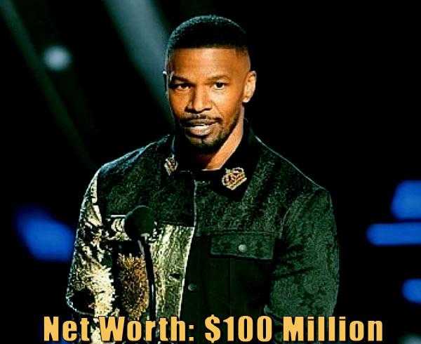 Image of American actor, Jamie Foxx net worth is $100 million
