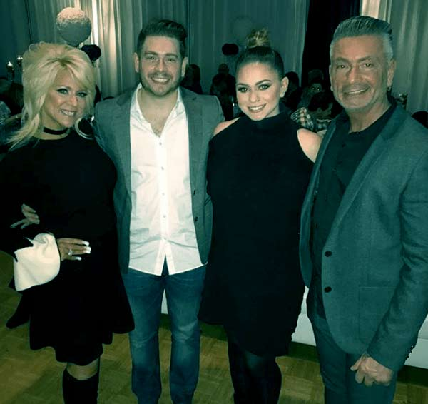 Image of Larry Caputo with his ex-wife Theresa Caputo and their kids Larry Caputo Jr.(son) and Victoria Caputo.(daughter)