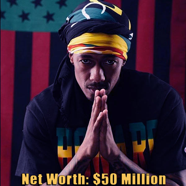 Image of American actor, Nick Cannon net worth is $50 million