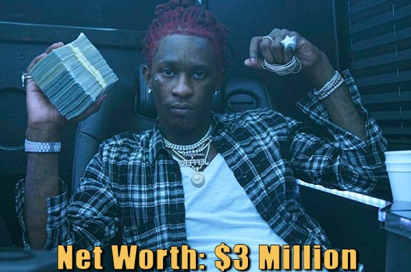 Image of American rapper, Young Thug net worth is $3 million