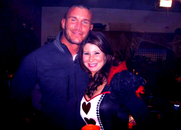 Image of Randy Orton with his ex-wife Samantha Speno